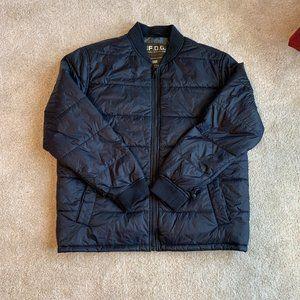 London Fog Puffer Jacket, Navy, XL